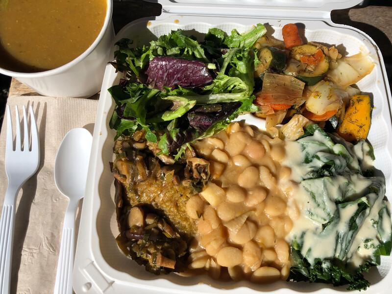 A macrobiotic meal from Shangrila Vegan Buddha in Albany. Photo: Shirley Huey