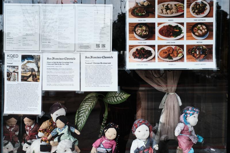 The exterior of the Nomad Tibetian Restaurant on Solano Avenue, April 23, 2021 Photo: Pete Rosos