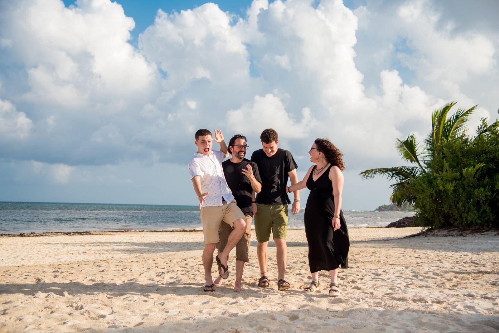 The Kane family on vacation. From left: Eli, Scott, Jesse, Nancy.