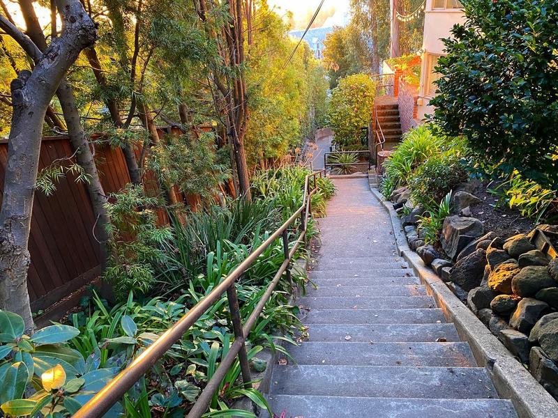 Secret stairs Berkeley