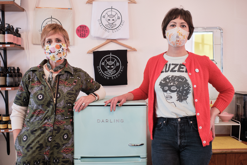 Founded by its two owners, Kerianne Silverman and Lindsay Melnyk, the Darling Electric is a hair salon the specializes in a green business model that seeks to recycle 97% of its waste, April 21, 2021 Photo: Pete Rosos