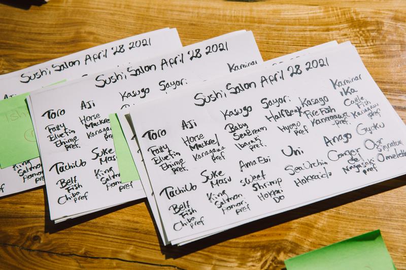 Sushi Salon, a pop-up from former Utzutzu chefs Joji Nonaka and Anna Osawa, operates on Tuesdays and Wednesdays at Fish & Bird Sousaku Izakaya until the pair can open their own brick-and-mortar space.