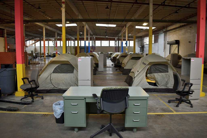 Tents at Grayson Shelter