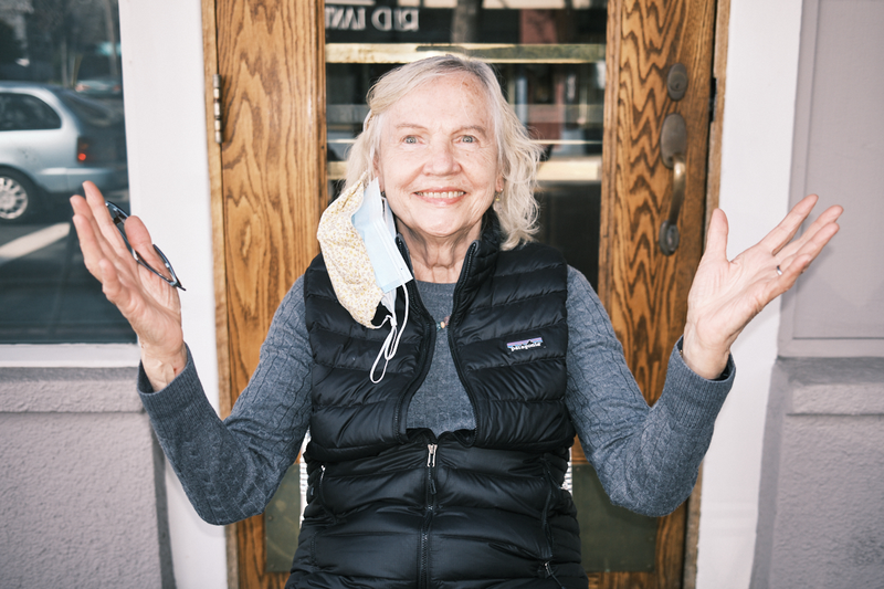 Hildy Marshall comes in to either FatApple's restaurants most days. Her enthusiasm and positivity inspire as much joy as her kirschkuchen (cherry cake) does.