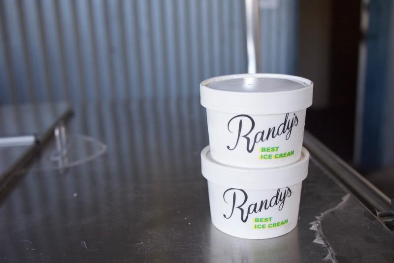 Cartons of Randy's Best Ice Cream.