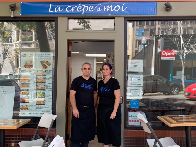 Dj and Rebecca Dahmani, the married couple behind La Crepe a Moi, opened their brick-and-mortar restaurant in Berkeley's Northside neighborhood in May 2020. Photo: Anna Mindess