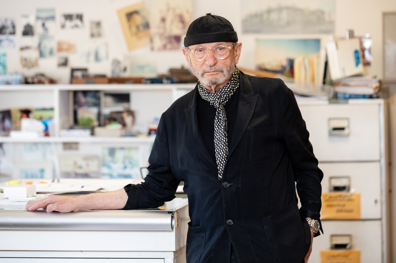 Developer Denny Abrams poses for a photo in his 4th Street office in Berkeley, CA on May 24, 2021. Photo: Kelly Sullivan