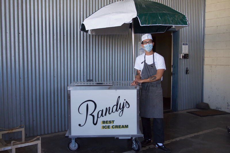 Randy's Best Ice Cream is an ice cream cart business started by Albany-based chef Brandon Nguyen.