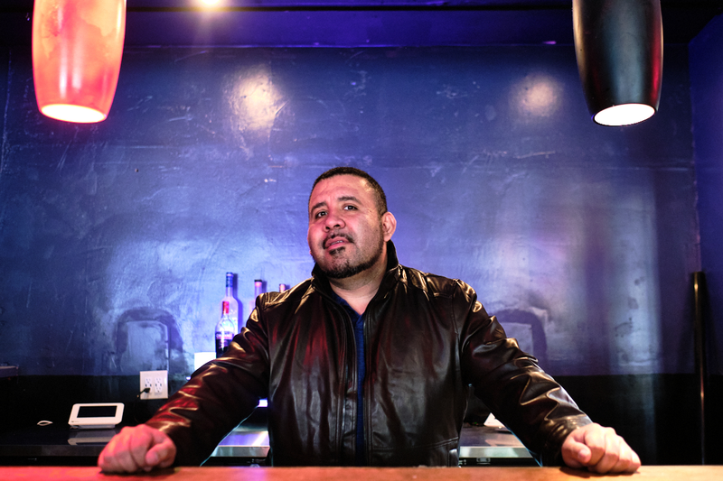 Owner and promoter Valentino Carrillo at Que Rico, a Latinx nightclub and restaurant on 15th Street in Downtown Oakland, April 5, 2021 Photo: Pete Rosos