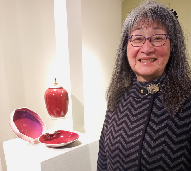 Berkeley potter  Kimi Masui is retiring after 50 years of creating porcelain clay art.  Credit: Laura Casey