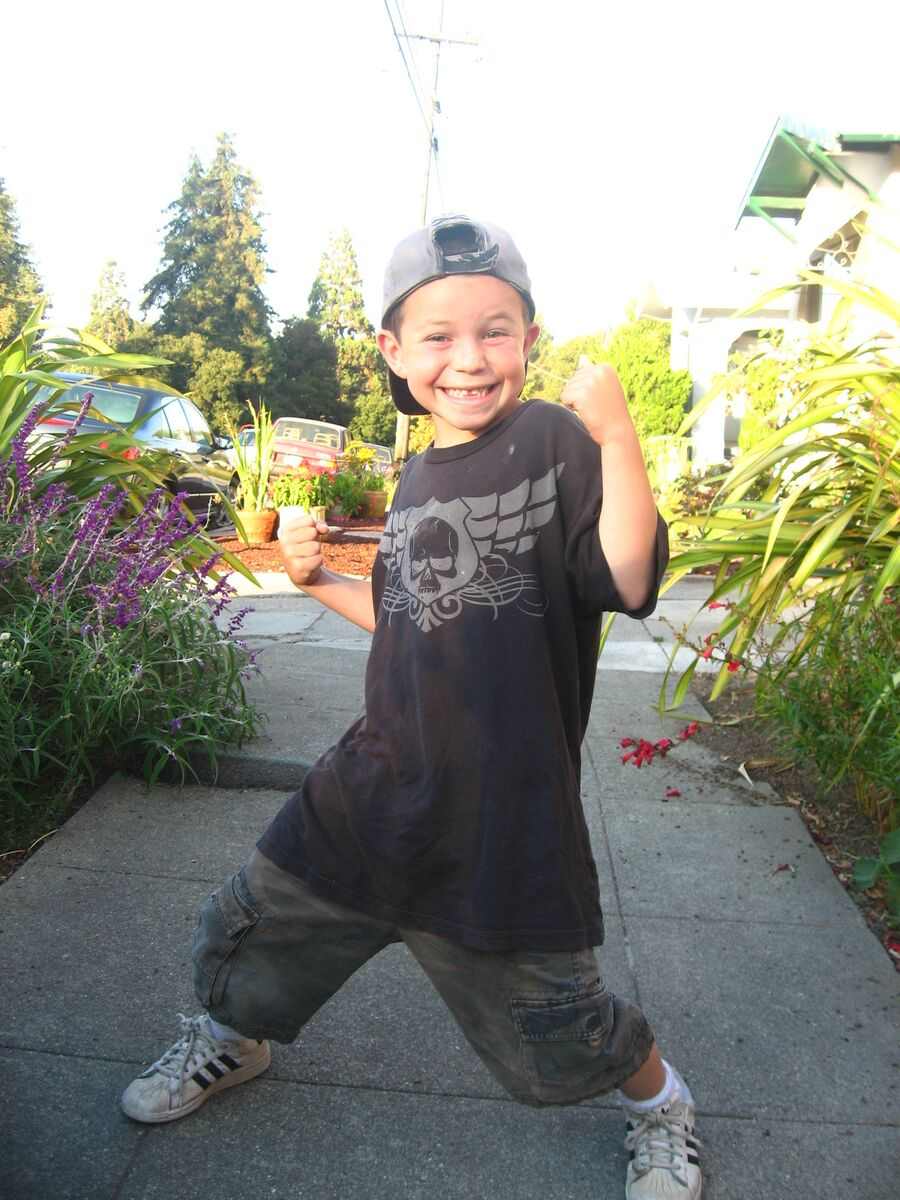 Eli Kane as a child in Berkeley.